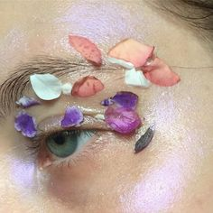 Pressed flowers and highlighter