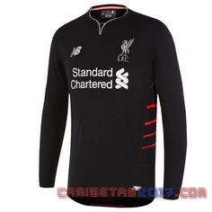 Camiseta manga larga Liverpool 2016 2017 segunda