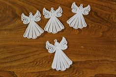 FSL (free standing lace) Angels Machine embroidery by KreativeStitching on Etsy