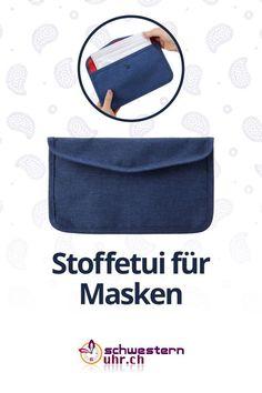 Praktisches Stoffetui für Hygiene- und Stoffmasken  Mit diesem Etui können Sie bis zu 10 Masken hygienisch und sauber in Ihrer Handtasche verstauen.  2 zusätzliche Fächer auf der Rückseite dienen als weitere Verstaumöglichkeit.  Jetzt bei schwesternuhr.ch bestellen! - Ohne Versandkosten. Schweizer Unternehmen.  #schwesternuhrch #schwesternuhr #maske #hygienemaske #stoffmaske #mundschutz Sneaker, Hats, Comfortable Work Shoes, Funny Hoodies, Protective Mask, Swiss Guard, Business, Masks, Hang In There