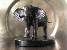 by Jonathan Parkinson titled: 'African Elephant (Waiting and Watching sculpture)'. Elephant Sculpture, Abstract Sculpture, Bronze Sculpture, Small Sculptures, Animal Sculptures, African Elephant, African Animals, Willow Statues, Sleeping Lion