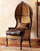 Brilliant.  Old Hickory Tannery Leather Balloon Armchair - Horchow
