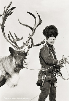 Sami man Guttorm with the lead reindeer Sweden by saamiblog, via Flickr