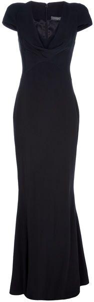 Perfection. Alexander Mcqueen Long Silk Dress- The black Pippa dress!