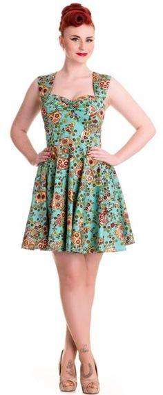 Hell Bunny Green Idaho Dress Suicide Glam Fashion Australia http://suicideglamfashion.com.au/