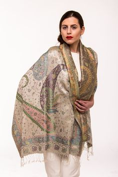 More colours available at our stall @ Old Spitalfields Market, London Photo copyright: thelittletibet.com  #tibetan #indian #kashmiri #pashminas #wraps #inspired #stole #shawls #handicraft #elegant #timeless #ethical #puresilk #highend #quality #independence #womanswear #thelittletibet