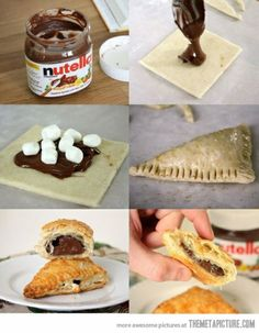 Nutella wonton smores (at least that's the name I'm giving them)