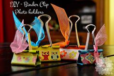 The SweetTalk Shop: DIY | Binder Clip | Photo Holders