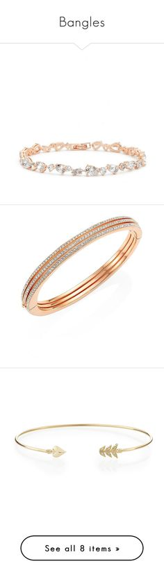 """""""Bangles"""" by rafakeka ❤ liked on Polyvore featuring jewelry, bracelets, apparel & accessories, rose gold, bracelets bangle, bangle bracelet, michael kors charm, charm bracelet bangle, hinged bangle and nadri bangle"""