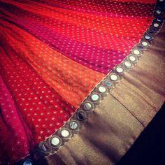 A stunning kalidar ready to be shipped to a client in Mumbai Choli Designs, Lehenga Designs, Half Saree Designs, Saree Blouse Designs, Indian Attire, Indian Wear, Indian Outfits, Mehendi Outfits, Half Saree Lehenga