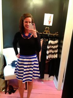 White Coat Wardrobe Blogger Stephanie looking adorable in our skirt!