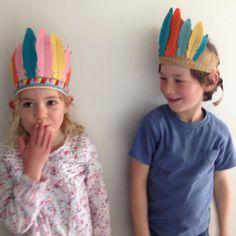 Felt Feather Headdress - Pink & Tan