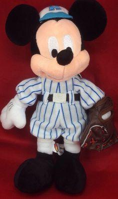 "Disney Parks Mickey Mouse Stuffed Animal Plush Baseball Uniform Glove 11"" Tag | eBay"