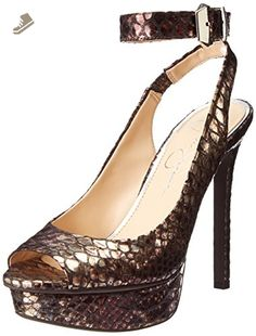 Jessica Simpson Women's Careen Platform Pump,Silver/Bronze,6.5 M US - Jessica simpson pumps for women (*Amazon Partner-Link)