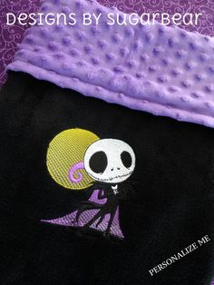 Jack Skellington Nightmare Before Christmas Theme BABY Blanket Personalize It add a Baby Pillow Minky Baby Blanket, Baby Pillows, Jack Skellington, Nightmare Before Christmas, Best Baby Blankets, Goth Baby, Christmas Baby Shower, Christmas Wedding, Baby Bats