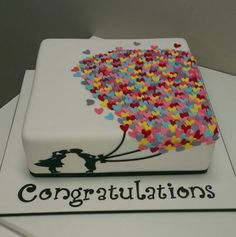 simple wedding engagement cake