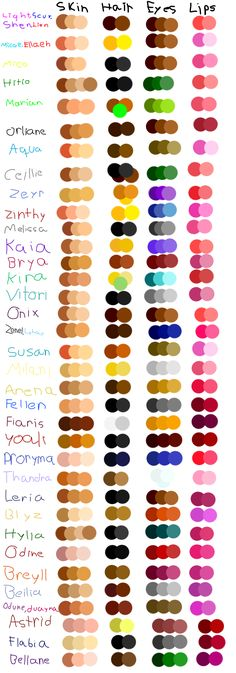 OCs color palettes by Light-Leckrereins.deviantart.com on @DeviantArt