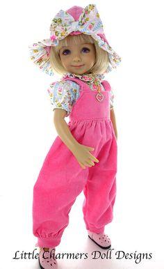 Outfit for Effner - Effner Little Darling overalls. Little Charmers Doll Design #Unbranded