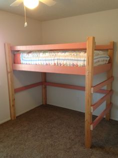 Junior Twin 2 Tone Loft Bed, Very Sturdy, Cost About $150.00 Total. Made