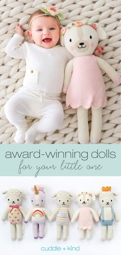Every cuddle+kind doll is lovingly handcrafted with natural, premium cotton yarn and provides 10 meals to children in need. There are 23 award-… Shower Bebe, Baby Shower, Foto Baby, Knitted Dolls, Softies, Baby Fever, Future Baby, Baby Toys, Cuddling