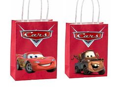 Cars 3 Party Favor Bag Cars Birthday Party Inspired Birthday Gift Bags, 10th Birthday, Birthday Party Favors, Baby Birthday, Car Themed Parties, Cars Birthday Parties, Lightning Mcqueen Party, Disney Cars Party, Party Favor Bags