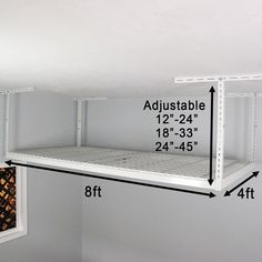 SafeRacks Overhead Garage Storage Rack (4' x 8')