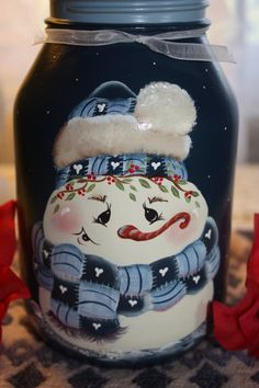 Snowman Jar Candle