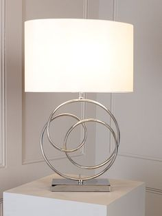 Linea Leah Ring Base Sculpture Table Lamp - House of Fraser Lighting Uk, Lighting Online, Lighting Design, House Of Fraser, Candle Making, Great Gifts, Table Lamp, Base