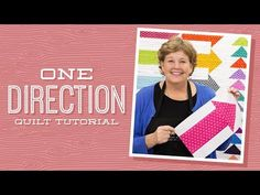 One Direction Quilt Pattern by Missouri Star - Missouri Star Quilt Co. Jenny Doan Tutorials, Msqc Tutorials, Quilting Tutorials, Quilting Designs, One Direction, Arrow Quilt, Arrow Pillow, Layer Cake Quilts, Layer Cakes