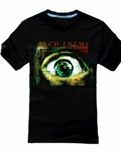 Arch Enemy T-Shirt Dead Eyes See No Future Death Metal Rock Tees For Men --