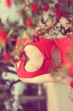 #heart cut out dress