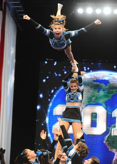 Amazing facial from Cheerleading Worlds