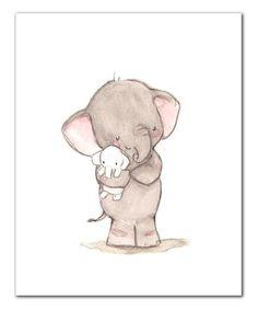 Elephant Love Print by trafalgar's square #zulily #zulilyfinds