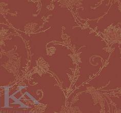 Tapet GRACILE din colectia La Stanza. Tapet rosu. Wallpaper red.