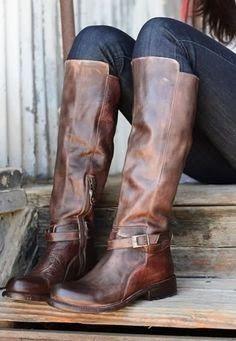 Ladies dark brown tall boots