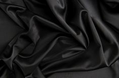 Type: Faux Silk Satin - Very Smooth & Soft. Sold by The Yard or Price is for 1 yard. Black Silk, Black Satin, Black Fabric, Silk Satin Fabric, Draped Fabric, Satin Bedding, W Dresses, Wedding Fabric, Wedding Dress