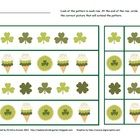 This is a free sheet created by Christina Aronen that can be printed out as a worksheet or laminated and placed for use in a math center. St. Patr...