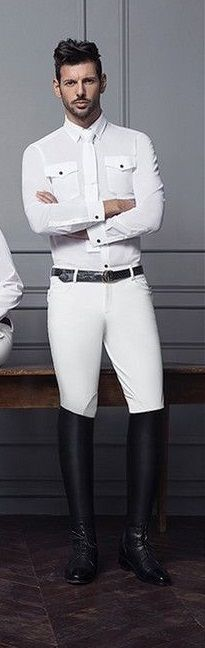 White on white in tall boots