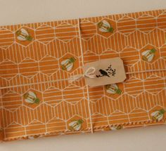 Vintage Sewing Fabric, Honeycomb and Bee Print