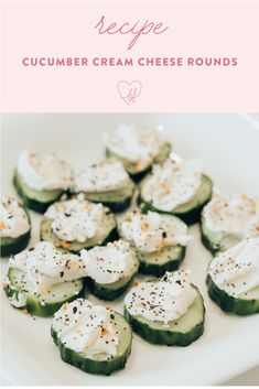 Need a delish summer snack that's healthy and won't have you cooking for hours in the kitchen? Look no further girl because these cucumber cream cheese rounds are just what you're looking for!