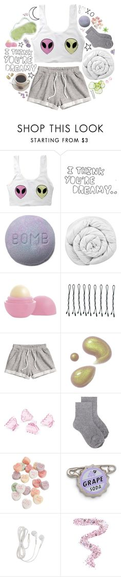 """""""I Want To Believe"""" by charcharr ❤ liked on Polyvore featuring Lazy Oaf, Andrea, Brinkhaus, Eos, BOBBY, H&M, Erika Cavallini Semi-Couture, Topshop, sleep and sleepwear"""