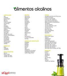 Tabla de alimentos alcalinos