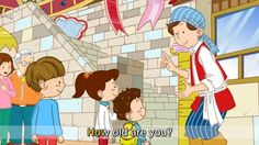 [Age] How old are you? I'm five years old. - Easy Dialogue - English cartoon with subtitles. Kids English, English Study, English Lessons, Learn English, English Conversation For Kids, English Exercises, Improve Your English, English Activities, Grammar And Vocabulary