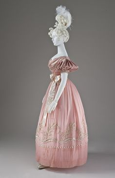 Evening dress ca. 1830  From LACMA