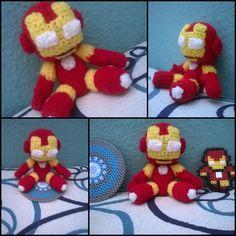 Iron Man amigurumi by ForgottenMermaid
