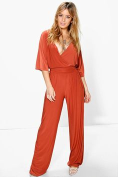 f63a45662f Click here to find out about the Petite Wrap Front Wide Leg Jumpsuit from  Boohoo