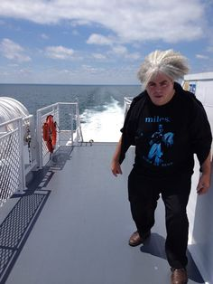 King Buzzo of the Melvins on a Ferry wearing a Miles Davis shirt...pretty much all win.