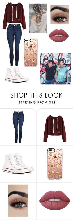 """Exploring w Ethan and Grayson Dolan"" by annamendes07 ❤ liked on Polyvore featuring Dolan, Topshop, Converse, Casetify and Lime Crime"
