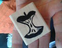Apple carved by Rachel Durtschi