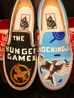 The Hunger Games/Mockingjay shoes. oh snap!